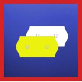 Samark 26 Price Gun Labels - 26mm x 12mm Plain Stock Labels