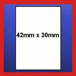 Plain Price Gun Labels for the PB3-416 Price Gun - 42mm x 30mm