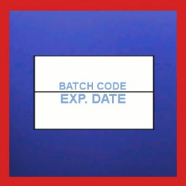 "Pre-Printed ""Batch Code/Expiry"" Price Gun Labels - 26mm x 16mm"