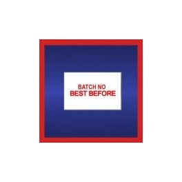 Price Gun Labels 26mm x 16mm Printed 'Batch No / Best Before'