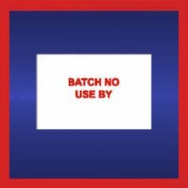 'BATCH NO' & 'USE BY' Sato PB220 Gun Labels - 16mm x 23mm